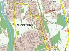 карта Долгопрудного Московской области